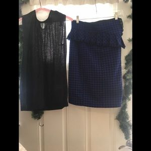 Nanette Lepore pencil skirt with matching top